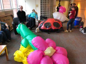 Design students create a sculpture garden