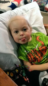 Four-year-old Hines is not completely cancer-free yet, but he is doing better and is home for the holidays.