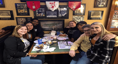 Communications capstone students held successful celebrity server night at Undo's