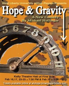 'Hope and Gravity' coming soon to Kelly Theatre