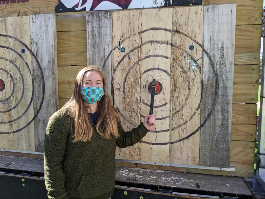 Axe Throwing on the Quad