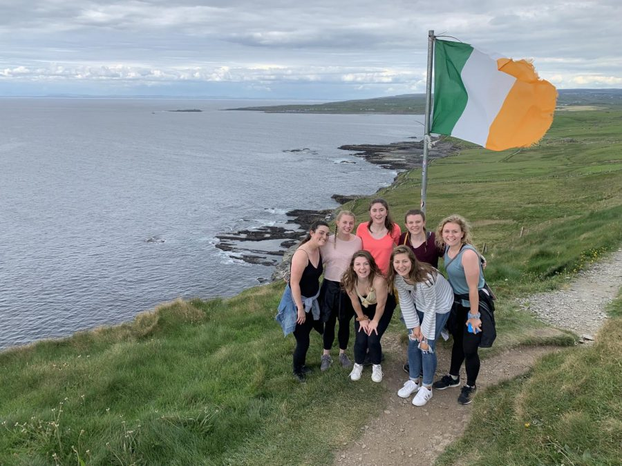 WLU students at the Cliffs of Moher in Ireland (2019)