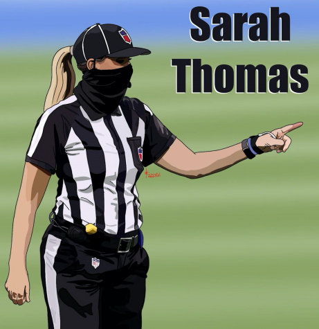 NFL official, Sarah Thomas, makes history being first female referee to officiate in NFL