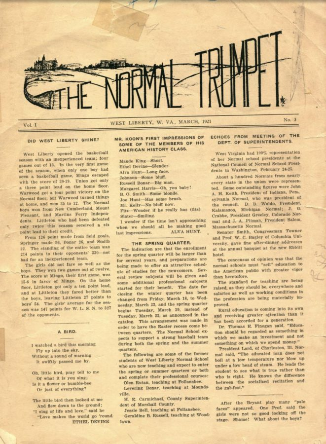 note: March 1921 publication every other month