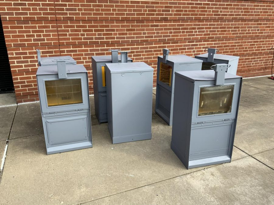 Little Library boxes that will be painted and placed around Wheeling.