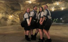 Kenley and her fellow cast members in Galaxy's Edge