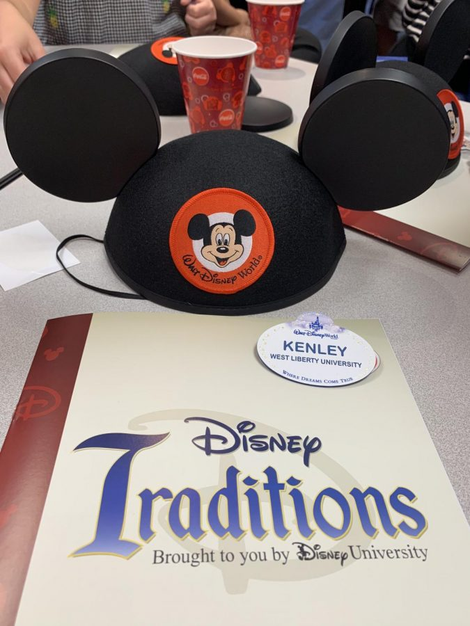 Kenley attending first day of training for the Disney College Program