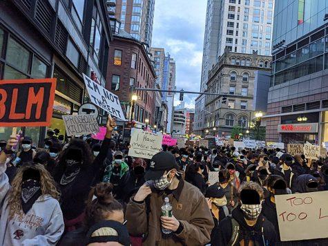 Boston, MA protest following Floyd