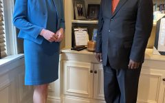 President Evans with Wheeling City Councilwoman Rosemnary Ketchum
