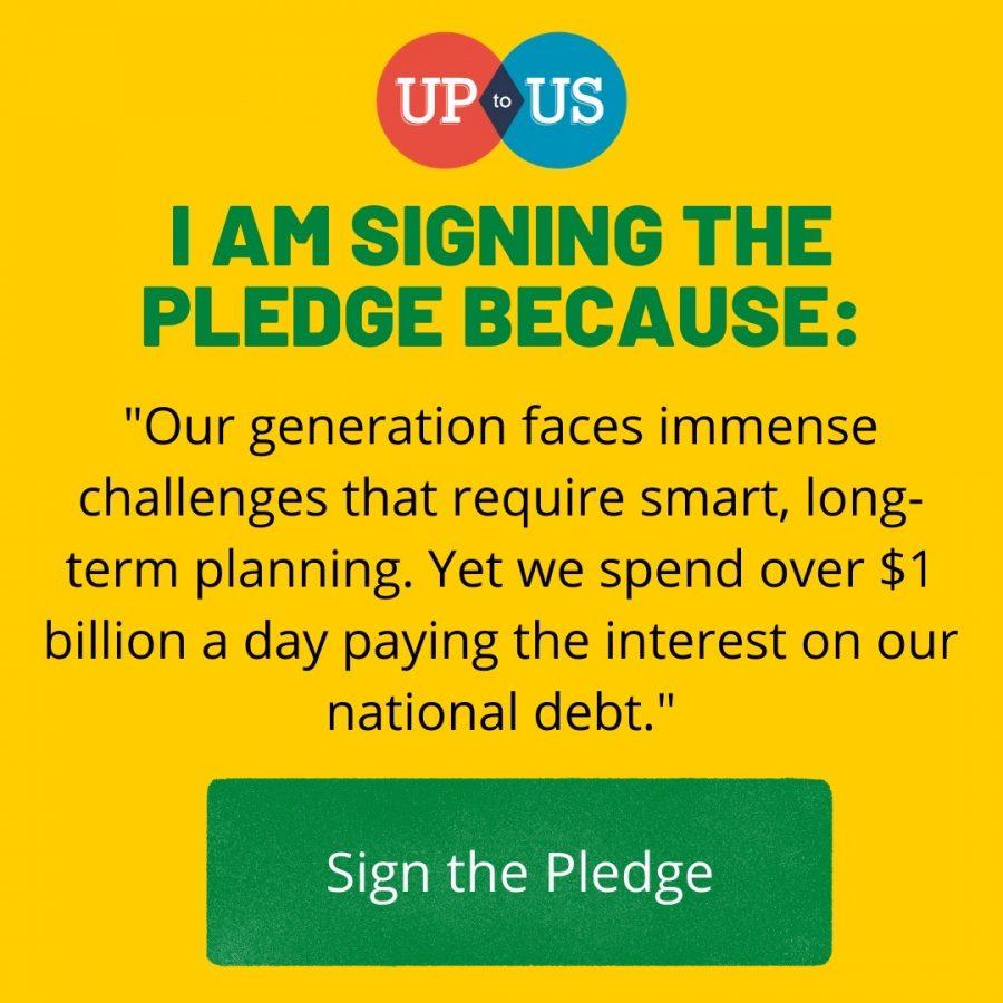 Up To Us pledge example