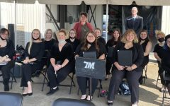 WLU Singers with Dr. Linda Cowan, Chair, Department of Music and Theater and Professor Patrick Garrett, Music Education
