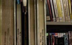 West Liberty University library shelves.