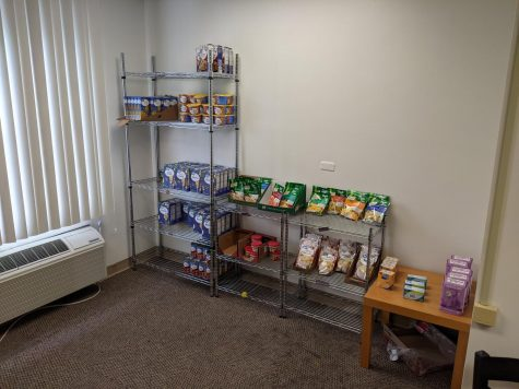 West Liberty Universitys new on-campus food pantry.