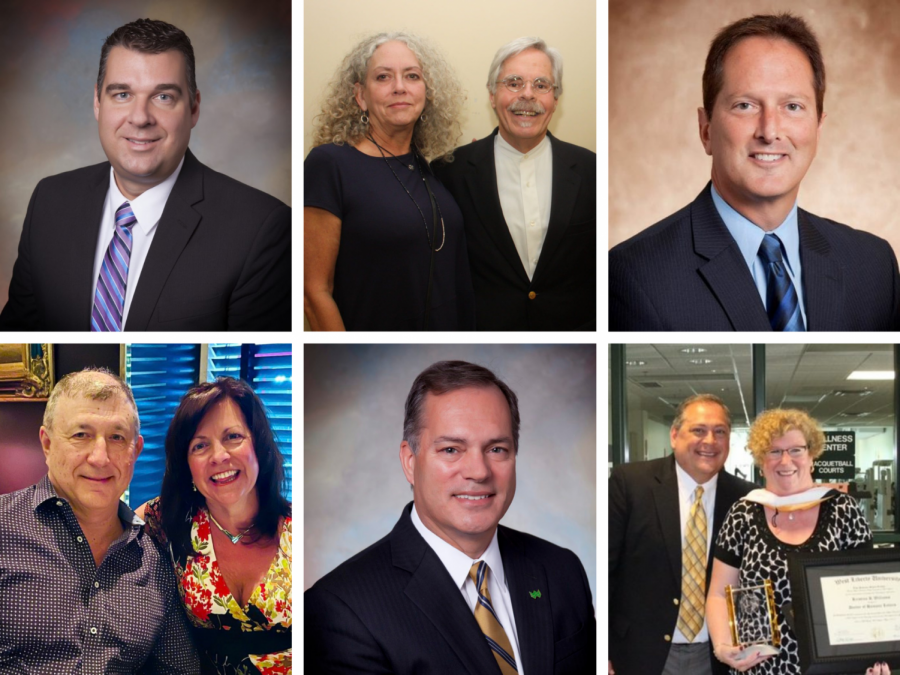 Group Photo: Impact of Philanthropy honorees, from left (top), Todd Cover, Thomas Cervone and Susan Creswell, Rich Lucas. Bottom: Alex and Valerie Paris, Todd Clossin, Kristina Williams and James Taibi.