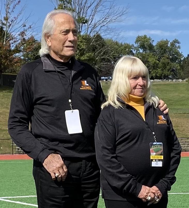 Lifetime Impact of Philanthropy honorees Gary and Phyllis Flip West are shown attending a WLU football game.