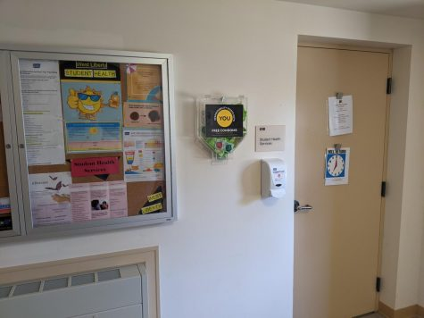 Door to the office of Student Health Services.