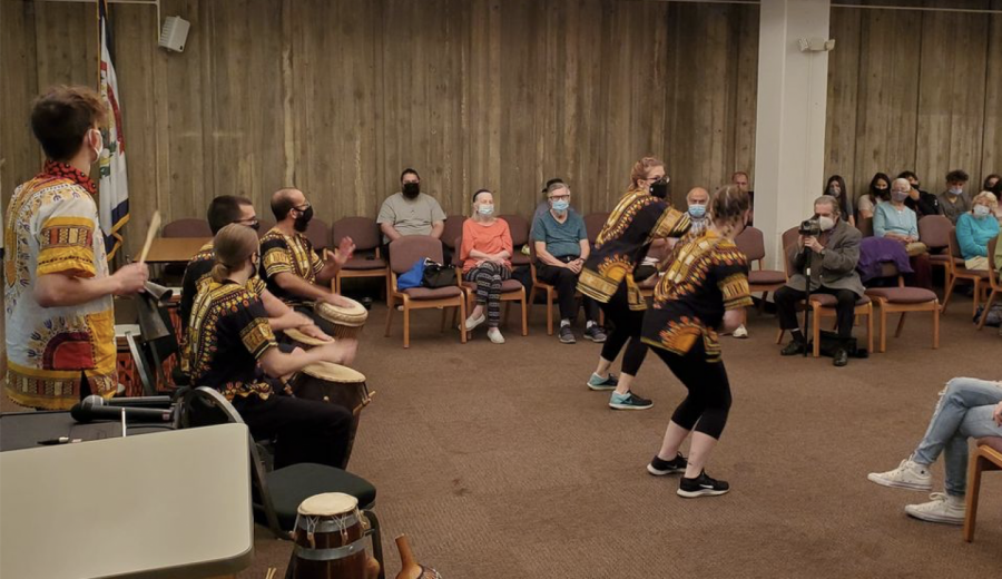WLU African Drum and Dance Ensemble performs at Lunch with Books program