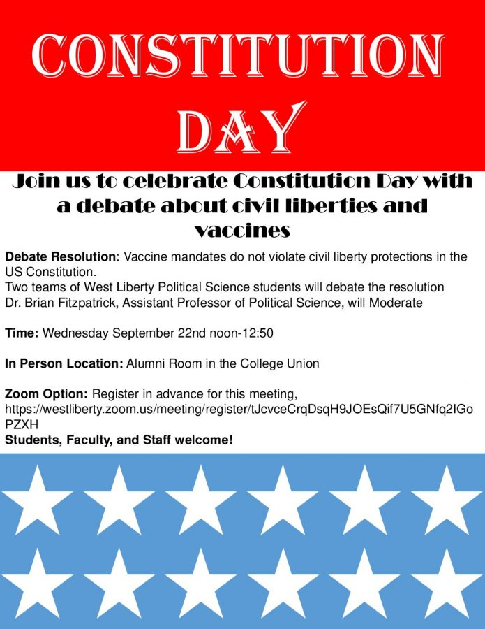 Constitution Day program poster.