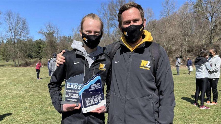 Hannah Kemp with the coach.